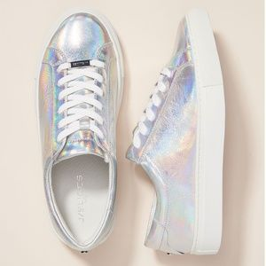 J/Slides Lacee Metallic Holographic Sneakers